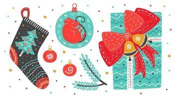 artículos navideños en estilo escandinavo.