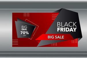 zwarte vrijdag geometrische rode en zwarte gradiënt verkoop banner