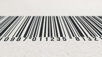 Animation of barcode on paper texture