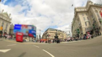 City Traffic Time Lapse London Fisheye Zoom