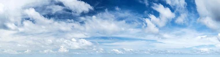 Tropical morning sky panorama