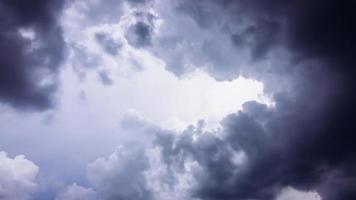 Sky with black clouds photo