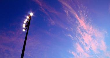 Blue sky pink clouds