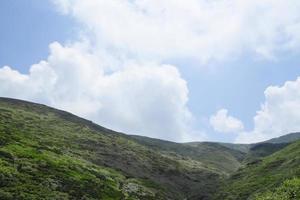 Akita-Komagatake and   blue  sky