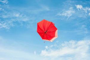 Red Umbrella with Blue Sky photo
