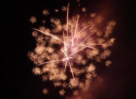 coloridos fuegos artificiales sobre cielo oscuro