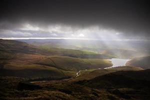 Kinder Reservoir and stormy skies