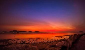 belleza del cielo del amanecer para el fondo