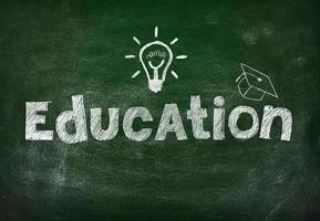 blackboard with education photo