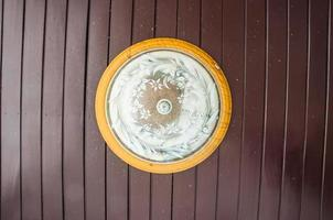 Photo of lamp ceiling on wood ceiling