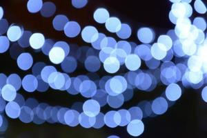 blue light of bokeh background