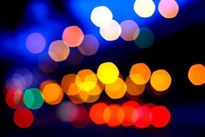 hermosas luces bokeh
