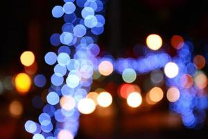 colorful of bokeh background