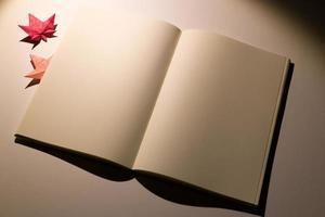 leyendo en la noche de otoño foto