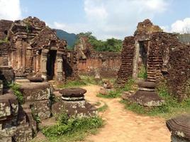 Ancient temple ruins photo