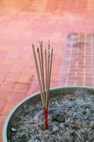 burning joss stick