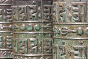 Row Of Old Tibetan Bells photo