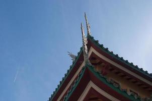Edge of a temple, Linh Ung Pagoda, Da Nang Vietnam photo