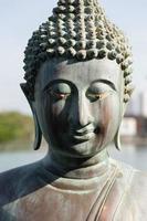 Closeup of Buddha Statue photo