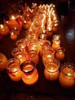 Candles in temple photo