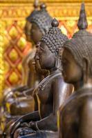Bronze Buddha statues photo