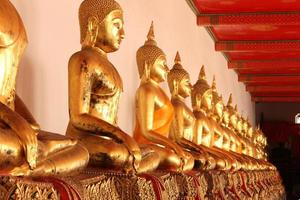 Buddha statues in the temple photo