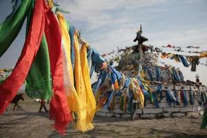 Tibetan Hada floating photo