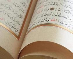 libro sagrado Corán foto