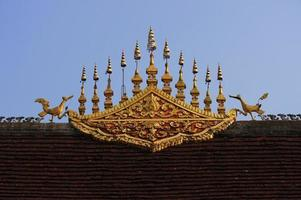 gable apex in Lung Pa bang temple photo