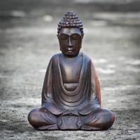 estatua de Buda de madera