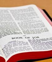 página de la biblia - trabajo foto