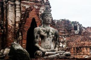 Ruin of ancient buddha temple in Thailand