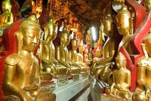 Buddha statues on the cave of Pindaya