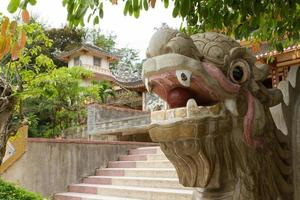 Chinese dragon ornament on a stairs