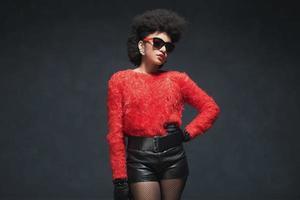 Stylish Young Woman Wearing Trendy Fashion