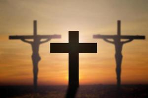 Cross with beautiful background