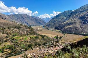 View from the top Sacred Valley, Peru photo