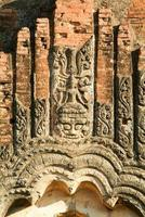 Detail on Dhammayangyi temple at the archaeological site of Bagan