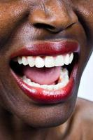African woman screaming