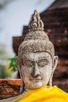 Buddha face in Wat Chaiwatthanaram, Ayutthaya, Thailand photo