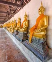 Buddha status in the temple photo