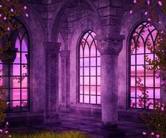 Castle Interior Fantasy Backdrop photo