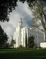 St George LDS Temple color photo