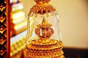 Les reliques de Bouddha au wat phra sri rattana mahatat woramahawihan