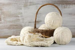 Knitting and yarn photo