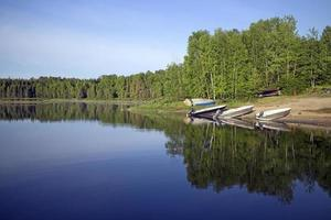 Fishing lake in northern Quebec, Canada