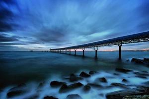 Pier and blue sky.. photo