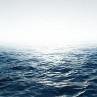 mar azul com céu