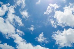 cielo azul con nubes