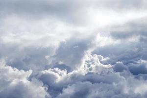 clouds in blue sky photo